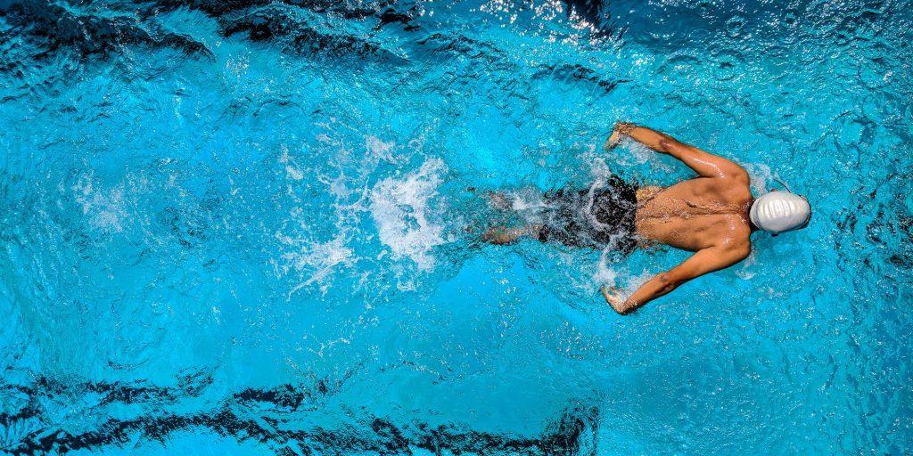 athlete swimming